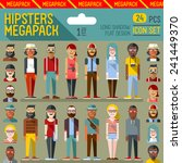 Hipsters Megapack. Flat Design...