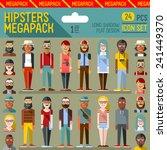 hipsters megapack. flat design. ... | Shutterstock .eps vector #241449370