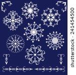 set of winter elements of... | Shutterstock .eps vector #241454500