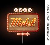 neon sign motel | Shutterstock .eps vector #241457590