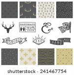 set of 8 hipster hand drawn... | Shutterstock .eps vector #241467754
