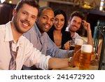 portrait of happy young people... | Shutterstock . vector #241472920