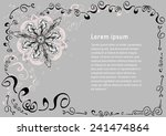 floral background for text | Shutterstock .eps vector #241474864
