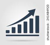 vector black economic icons set.... | Shutterstock .eps vector #241484920