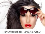 beautiful fashion model girl... | Shutterstock . vector #241487260