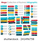 Collection of Infographic Templates for Business Vector Illustration | Shutterstock vector #241496758