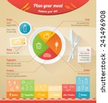 plan your meal infographic with ... | Shutterstock .eps vector #241496908