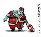 santa zombie | Shutterstock .eps vector #241497724