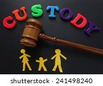 paper family and gavel with... | Shutterstock . vector #241498240