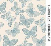butterflies seamless pattern in ...