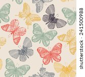 butterflies seamless pattern in ... | Shutterstock .eps vector #241500988
