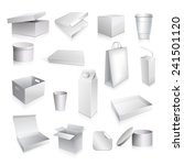 packaging set with paper cup... | Shutterstock .eps vector #241501120