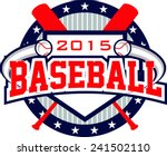 flying baseball logo | Shutterstock .eps vector #241502110