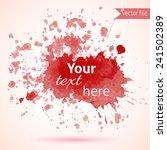 watercolor design elements   Shutterstock .eps vector #241502389
