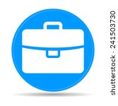 briefcase icon  flat vector...