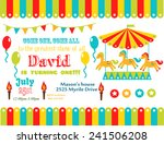 circus party card design for... | Shutterstock .eps vector #241506208