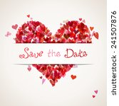 colourful hearts background... | Shutterstock .eps vector #241507876