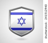 israel flag on a grey shiny... | Shutterstock .eps vector #241512940