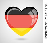 germany flag heart glossy button   Shutterstock .eps vector #241514170