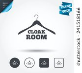 cloakroom sign icon. hanger... | Shutterstock .eps vector #241518166