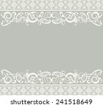 white ribbon lace vector vintage   Shutterstock .eps vector #241518649