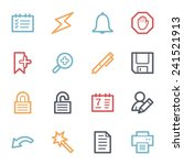 organizer web icons set | Shutterstock .eps vector #241521913