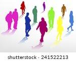 people walking silhouettes   Shutterstock .eps vector #241522213