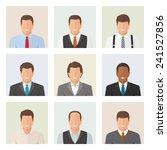 office men avatars set. strong... | Shutterstock .eps vector #241527856
