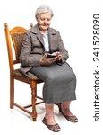 senior woman using mobile phone ... | Shutterstock . vector #241528090