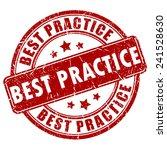 best practice stamp   Shutterstock .eps vector #241528630