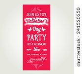 vector valentine's day party... | Shutterstock .eps vector #241530250