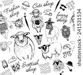seamless texture of sheep.... | Shutterstock .eps vector #241531534