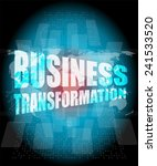 business transformation words... | Shutterstock . vector #241533520