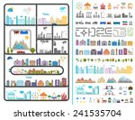 elements of the modern city....   Shutterstock .eps vector #241535704