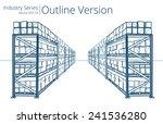 warehouse shelves. vector... | Shutterstock .eps vector #241536280