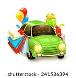 shopping tour  vector... | Shutterstock .eps vector #241536394