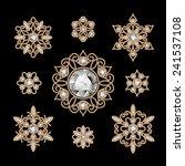 Elegant Jewelry On Black ...