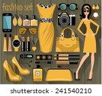 fashion set. vector  | Shutterstock .eps vector #241540210