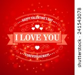 typography valentine's day... | Shutterstock .eps vector #241543078