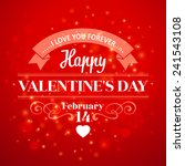 typography valentine's day... | Shutterstock .eps vector #241543108