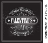 typography valentine's day... | Shutterstock .eps vector #241543246