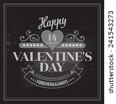 typography valentine's day... | Shutterstock .eps vector #241543273
