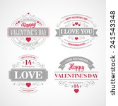 typography valentine's day cards | Shutterstock .eps vector #241543348