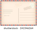 Vintage Postcard  Vector Design