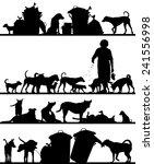 set of editable vector... | Shutterstock .eps vector #241556998