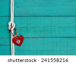 Red Heart And Silver Lock...