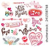 love vector,doodle