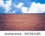 Brick Wall And Blue Sky  ...