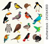 birds set | Shutterstock .eps vector #241564303