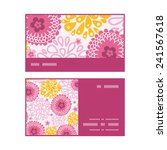 vector pink field flowers... | Shutterstock .eps vector #241567618